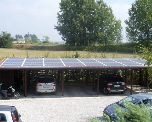 pergola fotovoltaica