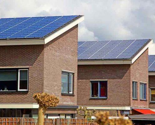 impianto fotovoltaico residenziale 3 case